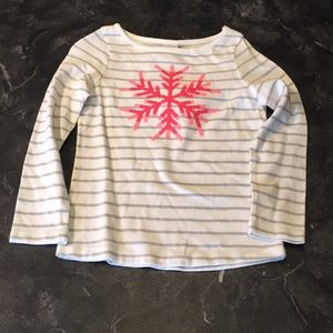 Gymboree Sequin Sparkle Snowflake ❄️Striped Shirt